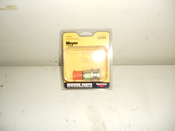 MEYER 22294 PIN TYPE FEMALE COUPLER BLOCK SIDE