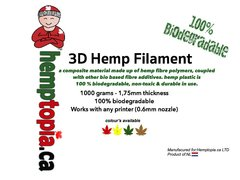 3D Hemp Filament 100% Biodegradable
