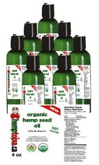 8 Organic Hemp Seed Oil Cold Pressed 4 oz