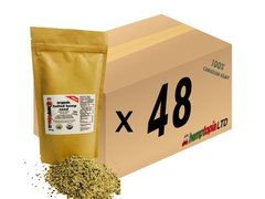 Organic Hulled Hemp Seeds Case of 48, 454 gram (1 lb) bags.