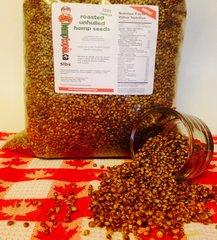 Roasted UnHulled Hemp Seeds 5lbs