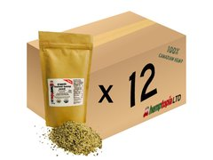 Organic Hulled Hemp Seeds Case of 12, 454 gram (1 lb) bags.