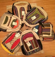 100% Hemp Hand Made Winkin' Sun Back Packs