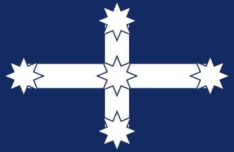 1 x eureka stockade flag face sock
