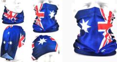 2 x aussie flag face socks