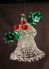 Bell with Holly Sprig Ornament