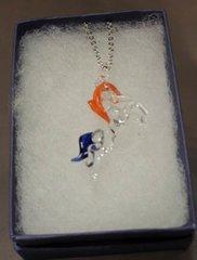 Bronco (Horse) Necklace - Orange & Blue