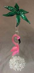 Flamingo with Palm Tree