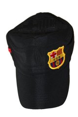 BARCELONA BLACK FCB LOGO FIFA SOCCER WORLD CUP MILITARY STYLE HAT CAP .. NEW