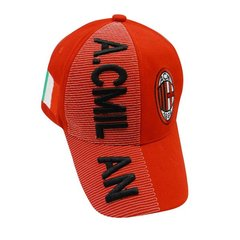 A.C. MILAN WITH LOGO FIFA SOCCER WORLD CUP EMBOSSED HAT CAP .. NEW