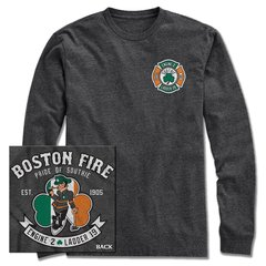Boston Fire Lucky Leprechaun Long Sleeve Tee