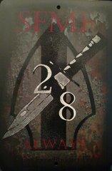 """2/8 Metal Sign 8x12"""""""