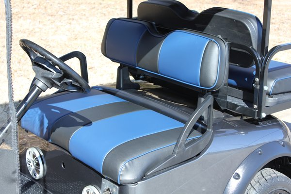 EZ-GO RXV / TXT Custom Seat Cover Set - Dark Blue and Black | Big ...