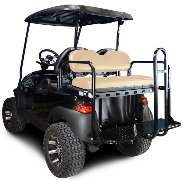 madjax genesis 150 club car precedent rear flip seat kit buff big o 39 s golf carts peachtree. Black Bedroom Furniture Sets. Home Design Ideas