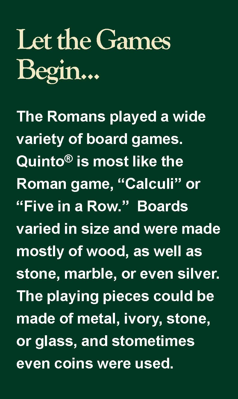 About Quinto | Quinto: the board and card game
