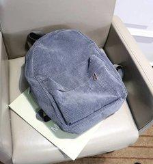 Light Blue Corduroy Backpack