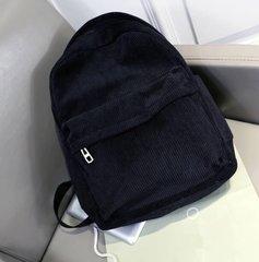 Black Corduroy Backpack