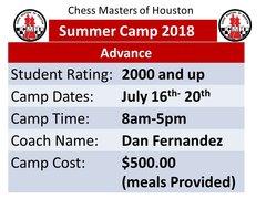 Summer Camp advance, July16-20 2018