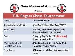 T.H.Rogers Chess Tournament December 8th, 2018