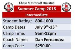 Summer Camp intermediate, July9-13th 2018