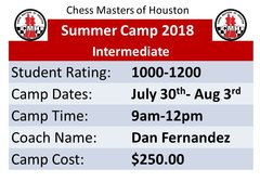 Summer Camp advance July 30th - Aug 3rd,2018