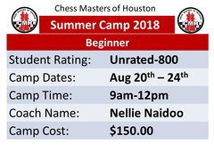 Summer Camp for Beginners, Aug 20th to 24th