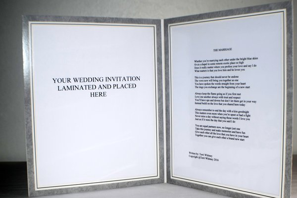 double 8x10 frame marriage poem - Double 8x10 Frame