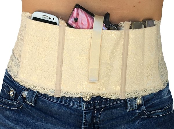 Hidden Heat Lace - Women's Concealed Carry Gun Holster - Natural