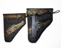 Pistol Pouch - Gold Paisley