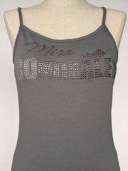 Bling Miss Concealed - spagetti strap tank top - Grey
