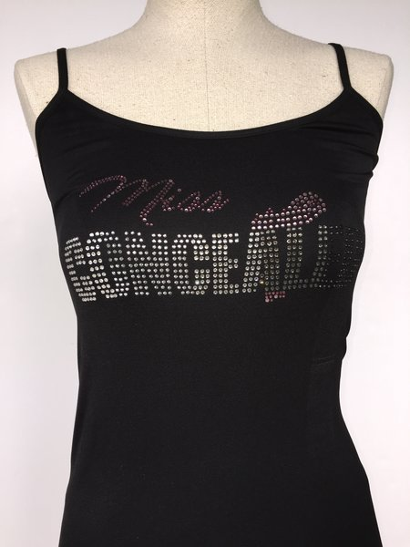 Bling Miss Concealed - spagetti strap tank top - Black