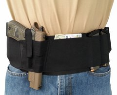 Hidden Heat 5 - Elastic Belly Band Gun Holster - BlackG