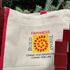 Build Happiness Today Tote Bag