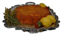 Poinsetta Lemon Cake