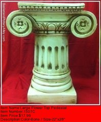 Large Flower Top Pedestal -