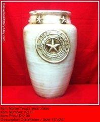 Texas Seal Vase - #1527F