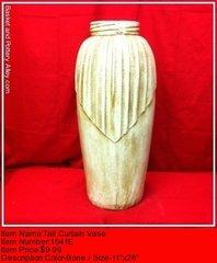 Tall Curtain Vase - #1541E