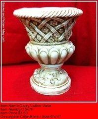 Daisy Lattice Vase - #1547F