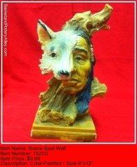 Brave Bust Wolf - #1520G