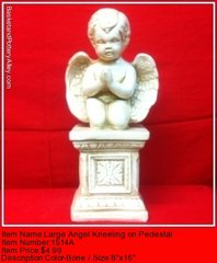 Angel Kneeling on Pedestal - #1514A