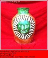 Large Round Sun Vase - #1525F