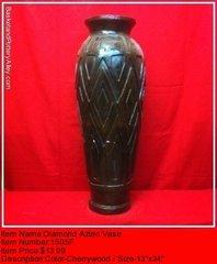 Diamond Aztec Vase - #1505F