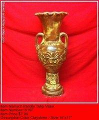 2 Handle Tulip Vase - #1515F