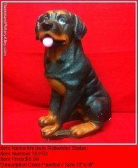 Medium Rottweiler Statue - #1515Q
