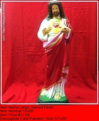 Large Sacred Heart - #1530R