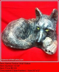 Timber Wolf Statue - #1514P