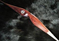 """60"""" 39#@28"""" Cocobolo and Koa Classic Longbow"""