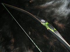 """48"""" 23#@24"""" Green and Black Otter Youth Longbow"""