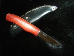 "10"" Paduk Knife with Helle Blade and Leather Sheath"