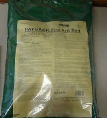 PAYBACK Fire Ant Bait Spinosad Works! Large, 9lb bag!